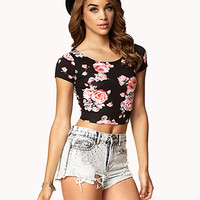 Garden Rose Crop Top | FOREVER 21 - 2072851045