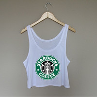 Starbucks Logo Crop Top
