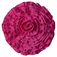 Xhilaration® Round Ruffle Decorative Pillow - Pink