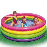 "Large Sunset Glow Inflatable Pool 66"" x 18"":Amazon:Toys & Games"