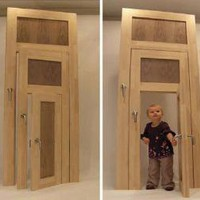 Small, Medium &amp; Large: Three-in-One Interior Door Design | Designs &amp; Ideas on Dornob
