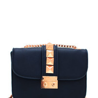 What-A-Stud-Clutch BLACKGOLD NAVYGOLD - GoJane.com