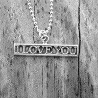 I Love You Necklace, Sterling SIlver