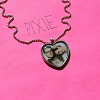 James Franco and Seth Rogen heart cameo necklace by PIXIEandPIXIER