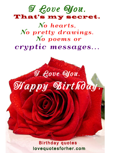 Happy Birthday Quotes For Her Love. QuotesGram