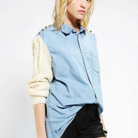 Urban Outfitters - Rag Union X Urban Renewal Fisherman Sleeve Denim Shirt
