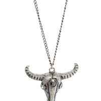 LOVEsick Steer Skull Necklace | Hot Topic