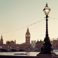 London Love Poem - London Photograph, Big Ben, Victorian, Lamp Post, Westminster, River Thames, Clock Tower, Romantic Travel Photography