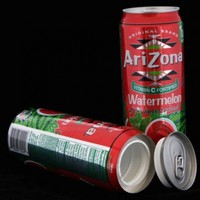 Arizona Watermelon Safe Can Hidden Stash+Free Pack of 1 1/4 Rasta Wrap:Amazon:Office Products