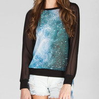 FULL TILT Galxy Womens Chiffon Top