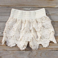 Bohemian Lace Shorts, Women's Sweet Bohemian Clothing
