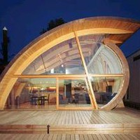 Natural Curves: Organic ?Wood Wave? Floating Home Design | Designs &amp; Ideas on Dornob