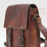 gift bag vintage leather messenger portrait crossbody SALE IPAD satchel shoulder bag for gift