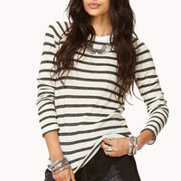 Striped Ruched Sleeve Top | FOREVER21 - 2000049748