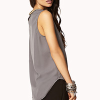 Essential Beaded Chiffon Shirt | FOREVER 21 - 2072522701