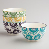 Geometric Print Bowls (Pack of 4)