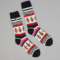folk - people socks navy
