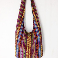 Handmade Woven Cotton Bag Hippie bag Hobo bag Boho  bag Shoulder bag Sling bag Messenger bag Tote bag Crossbody Purse