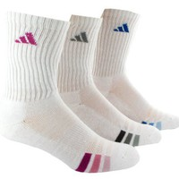 adidas Women's Cushioned Var 3-Pack Crew Sock