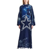 NFL Adult Comfy Throw, Officially Licensed Blanket with Sleeves by Northwest, Smoke Design