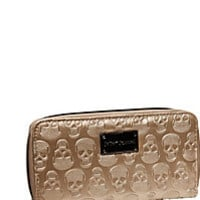 BetseyJohnson.com - PRINCESS SKULLY ZIP WALLET METALLIC