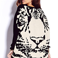 Standout Tiger Sweater | FOREVER 21 - 2000074726
