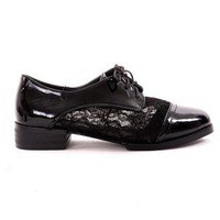 Noir Lace Oxford Flat Shoes - New Arrivals - Retro, Indie and Unique Fashion
