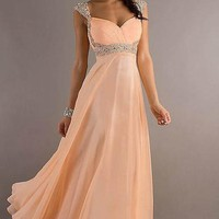 Sexy Long Chiffon Women Strapless Prom Dress Ball Gown Party Evening Stock SZ 6