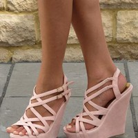 Pink  multi strap sandal (Danni) from Chockers Shoes