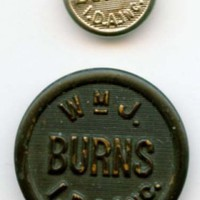 WmJ. Burns I.D.A. Inc. International Detective Agency uniform buttons