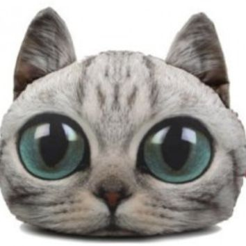 Big Eyed Kooky Cat Pillow | Need These Things