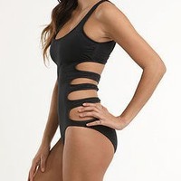 Volcom Black Solid Intuition One Piece - PacSun.com