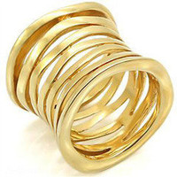 Multi Band 14K Gold Plated Ring - Modeets