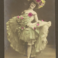 Asta Westergaard German Actress Performer on Tinted Unused Real PhotoVintage Postcard