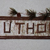 Rustic Sign  The Outhouse   Birch Bark n' Twig by RUSTICNORTHERN