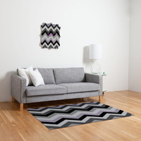 DENY Designs Home Accessories | Romi Vega Chevron Black Woven Rug
