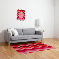 DENY Designs Home Accessories | Romi Vega Chevron Red Woven Rug