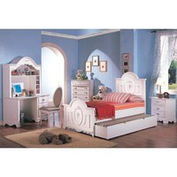 Sophie 4 Pcs Panel Bed Bedroom Set in White - Coaster Co. | Kids Bedroom Sets