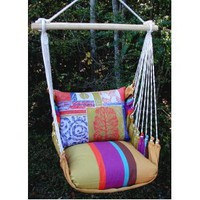 Cafe Soleil Fan Coral Hammock Chair Swing Set