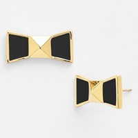 kate spade new york 'locked in' bow stud earrings