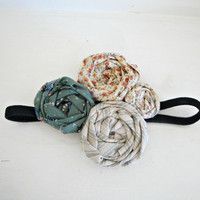 Vintage Rosette Cluster Headband /// Great by thepinkgiraffeshop