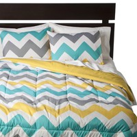 Room Essentials® Chevron Comforter - White (Queen)