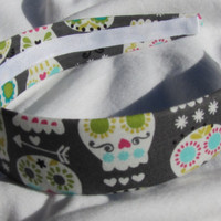 Grey Sugar Skull Headband
