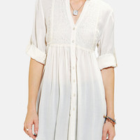 Urban Outfitters - Band Of Gypsies Lace-Bib Tunic