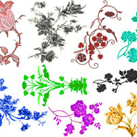 Flower Set of temporary tattoos by Inkweartattoos on Etsy