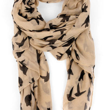Early Bird Scarf in Latte :: tobi