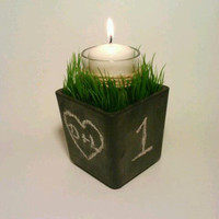 Wedding Reception Chalkboard Centerpiece by DeerwoodCreekGifts