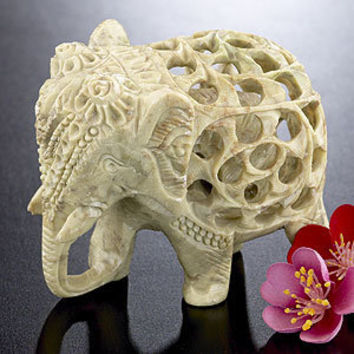 Soapstone Elephant | Decorative Accessories| Home Decor | World Market
