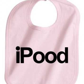iPOOD FUNNY BABY INFANT GIRL PINK BIB GREAT GIFT ADJUSTABLE NEW | KoolKidzClothing - Children's on ArtFire