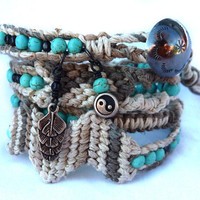 Ultimate Friendship wrap bracelet by Lobsterpirate on Etsy